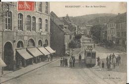 CPA - 90 - Territoire De Belfort - Beaucourt - Rue De Saint Dizier - Tramway - Animée - Valdoie