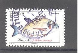 France Autoadhésif Oblitéré (Poissons De Mer - Daurade) (cachet Rond) - France
