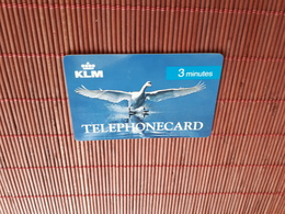 KLM Prepaidcard  3 Minutes Some Sratches On Backside Card 2 Scans  Used Rare - Télécartes
