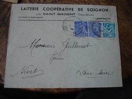 Laiterie Cooperative De Soignon Saint Maixent Enveloppe Commerciale - 1900 – 1949