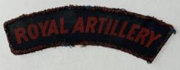 Militaria. WW2. British Army. Royal Artillery. Badge D'uniforme En Tissu. Bonne Condition. - Ecussons Tissu