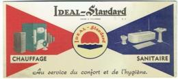 Buvard. Ideal-Standard. Chauffage Et Sanitaire. - Buvards, Protège-cahiers Illustrés