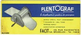 Buvard. Plentograf, Duplicateur Suédois De Précision. S.A.Facit, Bruxelles, Rue Ravenstein. - Buvards, Protège-cahiers Illustrés