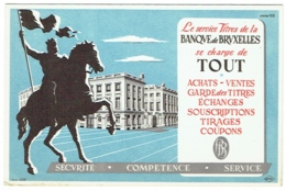 Buvard. Banque De Bruxelles. Titres. - Banque & Assurance