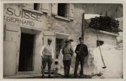 CPSM-Photo Animée Frontière Suisse Au Grand Saint Bernard Avec Douaniers Franco.Suisse - VS Valais