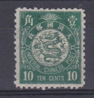 CHINE CHINA :  Dragon Impérial Chinese Post 10 Cents Vert Neuf X - Unused Stamps