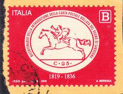 2019 CARTA BOLLATA REGNO SARDEGNA  USATO - 6. 1946-.. Repubblica