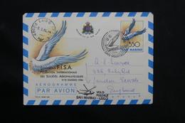 SAINT MARIN - Aérogramme Par Hélicoptère De Saint Marin / Lugo En 1984 , Oblitération Plaisante - L 28531 - Lettres & Documents