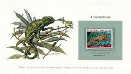 MADAGASCAR 1973 Card With Stamp CHAMELEO.BARGAIN.!! - Andere