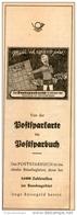 Original-Werbung/ Anzeige 1950 - POSTSPARKARTE / POSTSPARBUCH - Ca. 70 X 175 Mm - Werbung