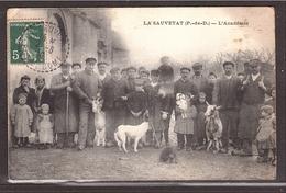 CPA LA SAUVETAT Puy De Dôme - L'ACADÉMIE - écrite 1910 - France