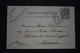 France - 1901 : Type Blanc 111 Sur Carte Postale Pour La Nouvelle Calédonie De Marseille Avion Spécial - Marcophilie (Lettres)