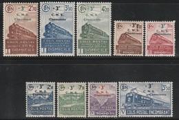 FRANCE - COLIS POSTAUX - N° 191/199 *  (1942) Surcharge : C.N.S Cheminots - Parcel Post