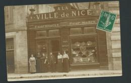 Cpa Photo ( Serait De Dijon ? ) A La Ville De Nice , Fournitures Pour Modes     Mbd 110 - Dijon