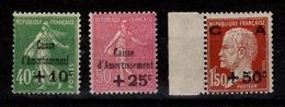 YV 253 à 255 N** Caisse Amortissement Cote 275 Euros - France