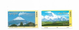 MEXICO 2007 VOLCANO, MOUNTAINS: POPOCATEPEL AND MINGA KONGA, JOINT ISSUE WITH CHINA 2 VALUES, COMPLETE - México