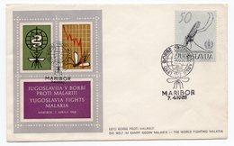 YUGOSLAVIA, SLOVENIA, SPECIAL CANCELLATION, THE WORLD FIGHTING MALARIA, MOSQUITO - Cartas