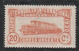 ESPAGNE - TIMBRES EXPRES - N°10 * (1930) Congrès International Des Chemins De Fer - Eilbriefmarken