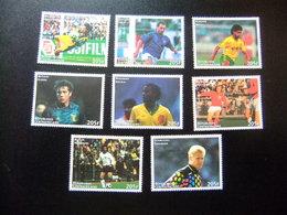Centrafricaine Centroafrica 1998 Coupe Du Monde De Football France Yvert 1367 /74 ** Mnh - República Centroafricana