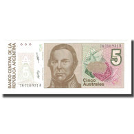 Billet, Argentine, 5 Australes, KM:324a, NEUF - Argentine