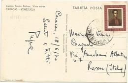 W2780 Venezuela - Caracas - Centro Simon Bolivar - Vista Aerea - Nice Timbres Stamps Francobolli / Viaggiata 1970 - Venezuela