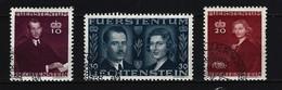 LIECHTENSTEIN Mi-Nr. 211 - 213 Hochzeit Von Fürst Franz Josef II. Und Gräfin Gina Von Wilczek Gestempelt - Liechtenstein