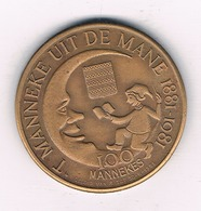100 MANNEKE   1981 DIKSMUIDE BELGIE /3844/ - Belgique