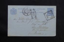 """FRANCE - Cachet D 'entrée """" Surinam Over Saint Nazaire """" Sur Entier Postal De Paramaribo  Pour Helder En 1904 - L 28543 - Storia Postale"""