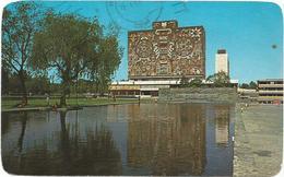 W2782 Mexico City D.F. - Biblioteca De La Ciudad Universitaria - Nice Stamps Timbres Francobolli / Viaggiata - Messico
