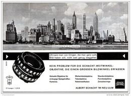 Original-Werbung/ Anzeige 1964 - WEITWINKEL - OBJEKTIVE / ALBERT SCHACHT - NEU-ULM - Ca. 120 X 90 Mm - Werbung