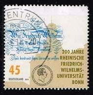 Bund 2018, Michel# 3360 O 200 Jahre Universität Bonn - BRD
