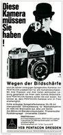 Original-Werbung/ Anzeige 1968 - PRAKTICA KAMERA / VEB PENTACON DRESDEN - Ca. 110 X 240 Mm - Werbung