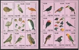 ABKHAZIA - 2 BLOCS ** (2005)  OISEAUX / BIRDS - Vignettes De Fantaisie