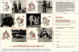 Original-Werbung/ FALT - PROSPEKT / 6 SEITER 1952 - ROBOT KAMERA BERNING DÜSSELDORF/ PREISAUSSCHREIBEN - Ca. 90 X 180 Mm - Werbung