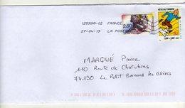 Enveloppe FRANCE Oblitération LA POSTE 12599A-02 27/04/2019 - Postmark Collection (Covers)