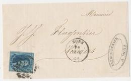 1862  BRIEFFRONT COB 11 V. MONS N. VERVIERS Zie Scan(s) - 1858-1862 Medaillen (9/12)