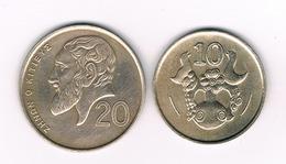 20 + 10 CENTS 1990 CYPRUS /3852/ - Cyprus