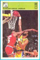 KAREEM ABDUL JABBAR - Yugoslav Vintage CardSvijet Sporta ** LARGE SIZE ALIKE A POSTCARD ** Basketball Basket-ball NBA - Singles