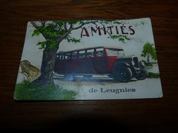 CPA Fantaisie Amitiés De Leugnies Autocar Voyagée 1937 - Sivry-Rance