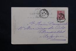 """FRANCE - Oblitération Maritime """" Marseille Ligne D'Alger  """" Sur Carte Postale D' Alger Pour La Belgique 1902 - L 28550 - Marcophilie (Lettres)"""