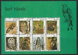 SURF ISLANDS - BLOC  **   OISEAUX / BIRDS - Vignettes De Fantaisie