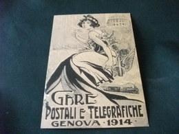 PIN UP TRENO TRAIN GARE POSTALI E TELEGRAFICHE GENOVA 1914 ANNULLO CASTIGLIONE DELLE STIVIERE MN 3° CORTEO ALOISIANO - Pin-Ups