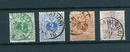 [2813] Zegels 26 - 29 Gestempeld - 1869-1888 Lion Couché