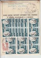 Ordre De Réexpédition Temporaire  Nîmes/ La Bourboule - Marcophilie (Lettres)