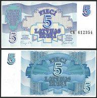 LATVIA - 5 Rubli 1992 UNC P.37 - Latvia