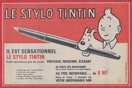 Le Stylo Tintin. 1962. - Publicités