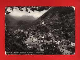 (2) Valle D'Aosta - Pont St.Martin.  PANORAMA .  Viaggiata  1955.  Vedi Descrizione - Italia