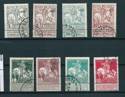[2813] Zegels 92 - 99 Gestempeld - 1910-1911 Caritas