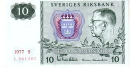 Sweden P.52 10 Kroner  1977 Unc - Sweden