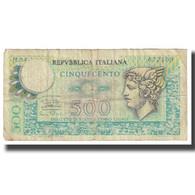 Billet, Italie, 500 Lire, KM:95, TB - [ 2] 1946-… : Republiek